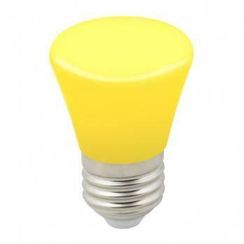 """Лампа декоративная светодиодная LED E27, """"колокольчик"""", матовая, 1Вт, желтый"""