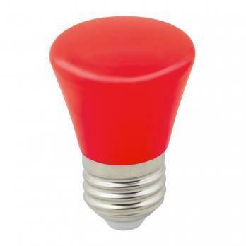 """Лампа декоративная светодиодная LED E27, """"колокольчик"""", матовая, 1Вт, красный"""
