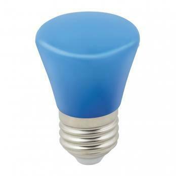 """Лампа декоративная светодиодная LED E27, """"колокольчик"""", матовая, 1Вт, синий"""