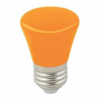 """Лампа декоративная светодиодная LED E27, """"колокольчик"""", матовая, 1Вт, оранжевый"""