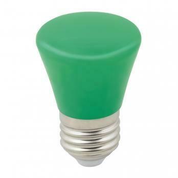 """Лампа декоративная светодиодная LED E27, """"колокольчик"""", матовая, 1Вт, зеленый"""