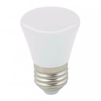 """Лампа декоративная светодиодная LED E27, """"колокольчик"""", матовая, 1Вт, дневной свет (6000К)"""