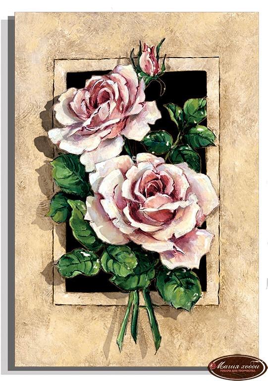 Винтажные розы, Размер: 20*30