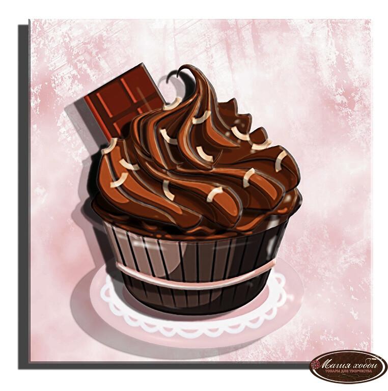 Кексик шоколадный, Размер: 10*10