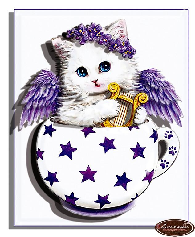 Коточашка - звёздочка, Размер: 10*12