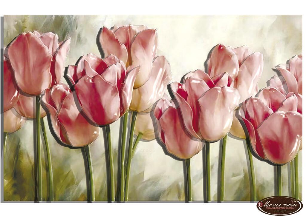 Нежность тюльпанов, Размер: 29*18
