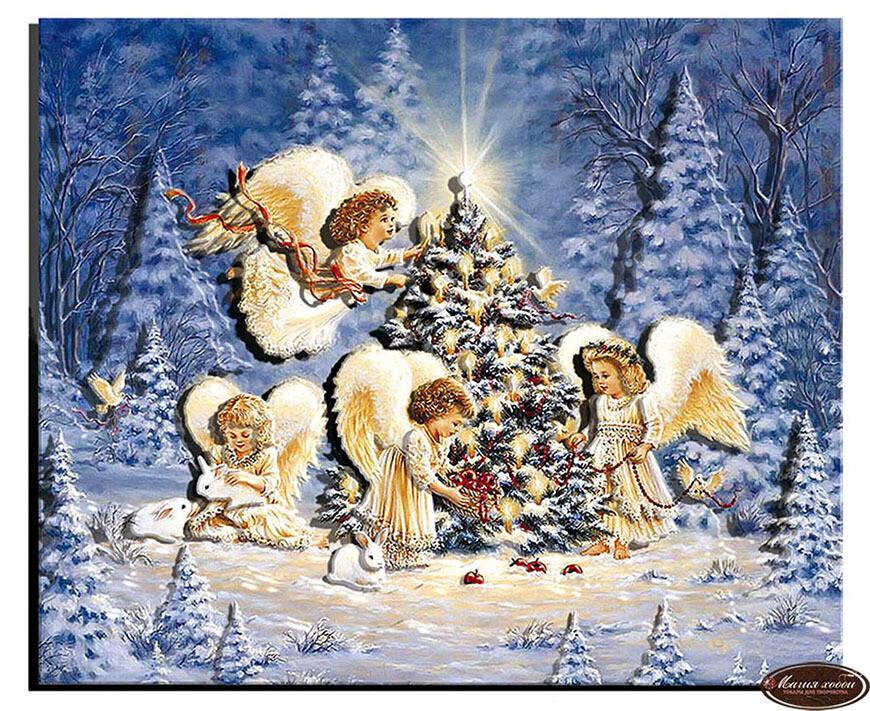 Рождественские  Ангелы, Размер: 20*23