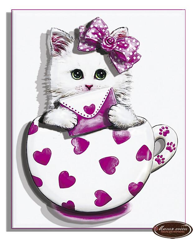 Коточашка - сердечко, Размер: 10*12