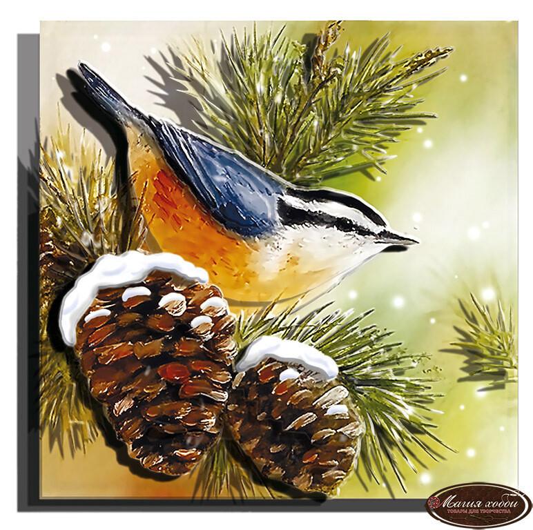 Зимняя пташка, Размер: 12*12