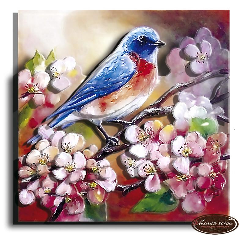 Весенняя пташка, Размер: 12*12