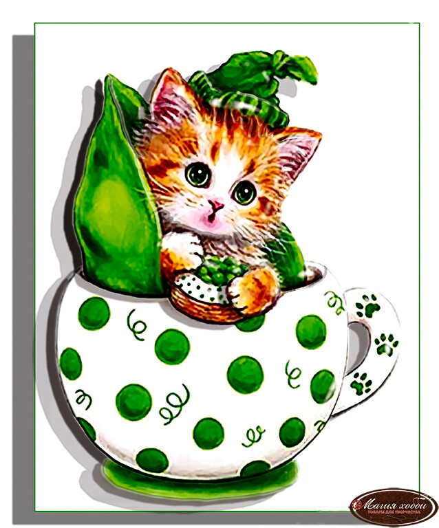 Коточашка - горошек, Размер: 10*12