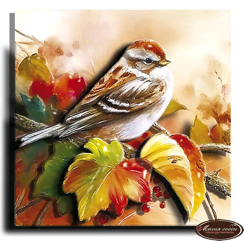 Осенняя пташка, Размер: 12*12
