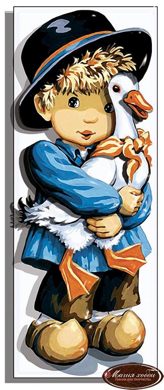 Мальчик с гусем, Размер: 9,5*24