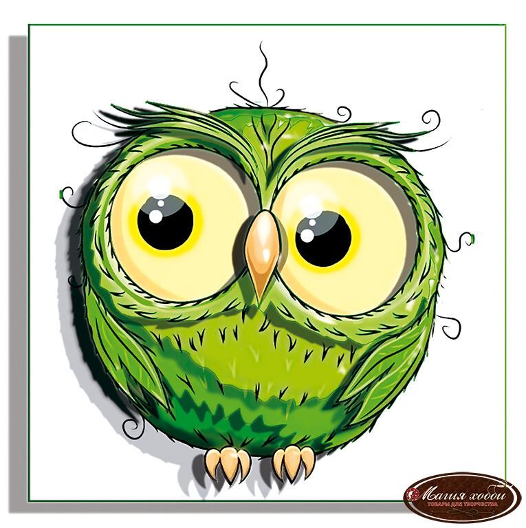 Совушка зеленая, Размер: 12*12