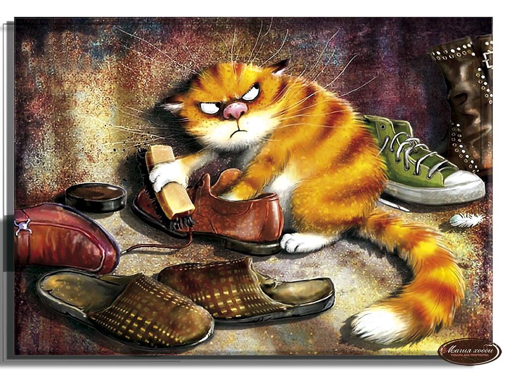 Рыжий кот , Размер: 20*28