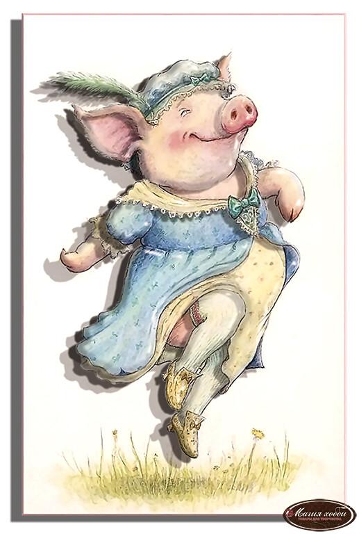 Мадам Пиги винтаж, Размер: 13*20