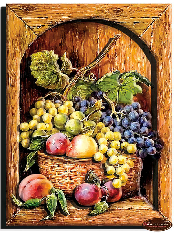 Натюрморт с фруктами, Размер: 20*26