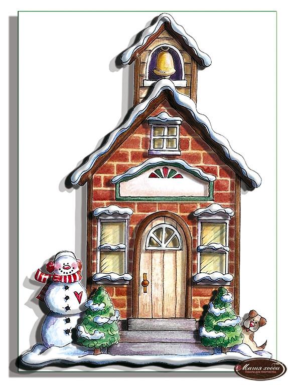 Сказочный домик с колоколом, Размер: 14*20