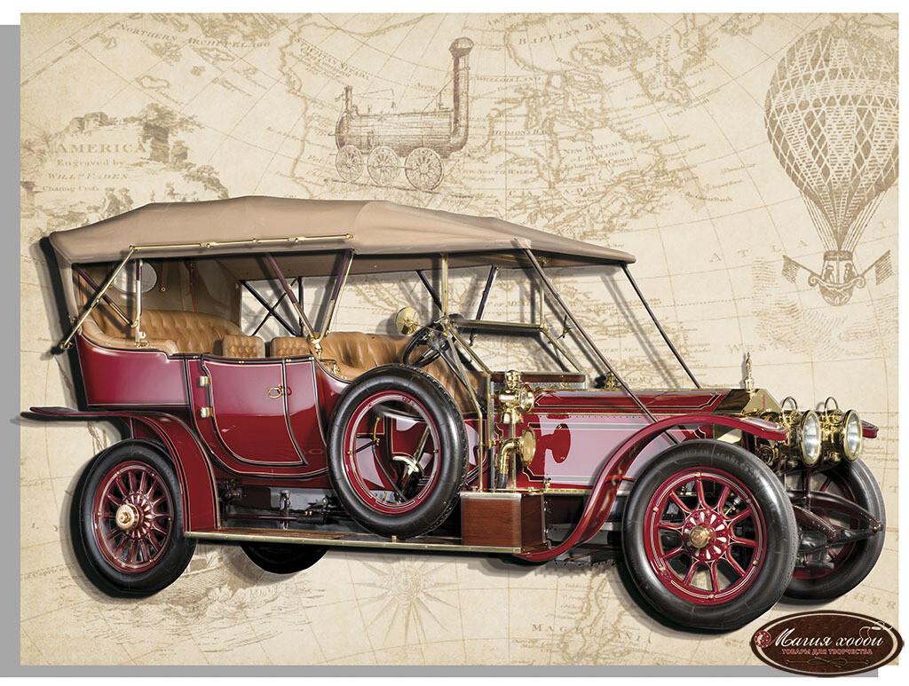 Ретро Rolls - Royce (красный), Размер: 20*30