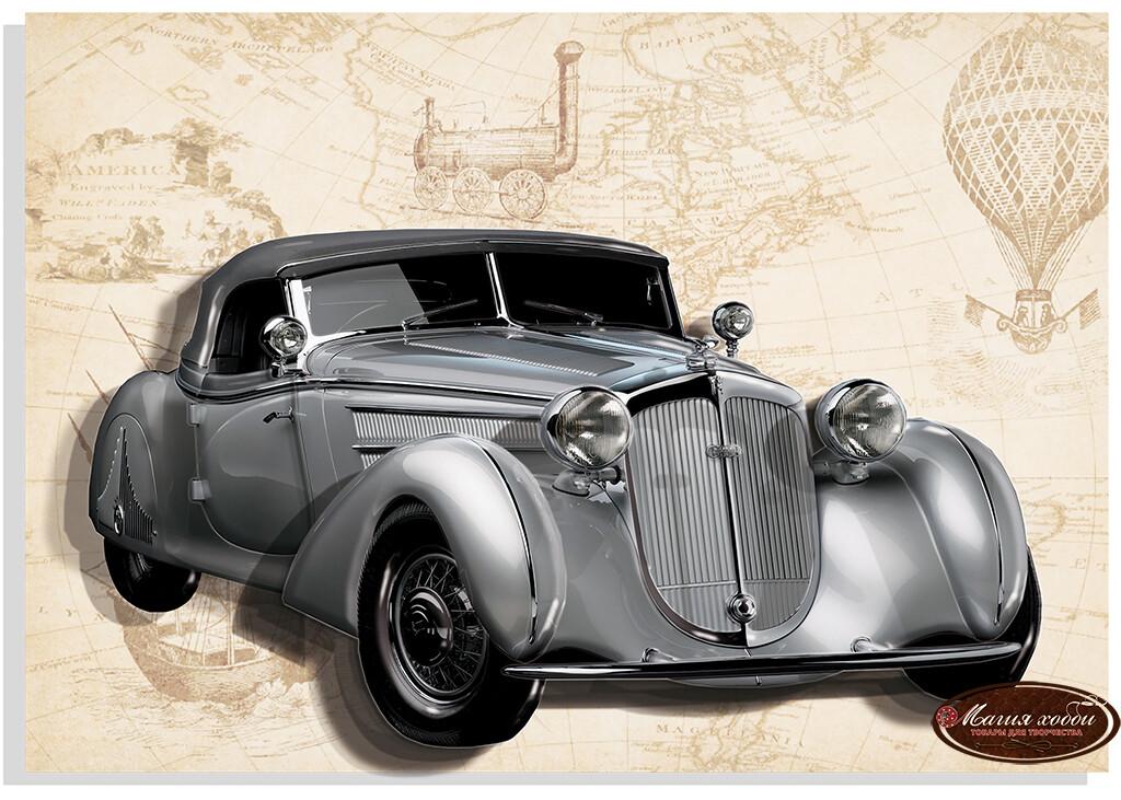 Ретро Horch (серый), Размер: 20*30