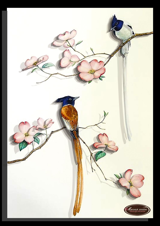 Райские птички-1, Размер: 20*28