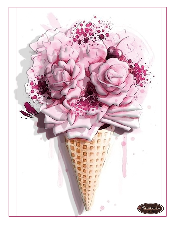 Розовый рожок, Размер: 15*20