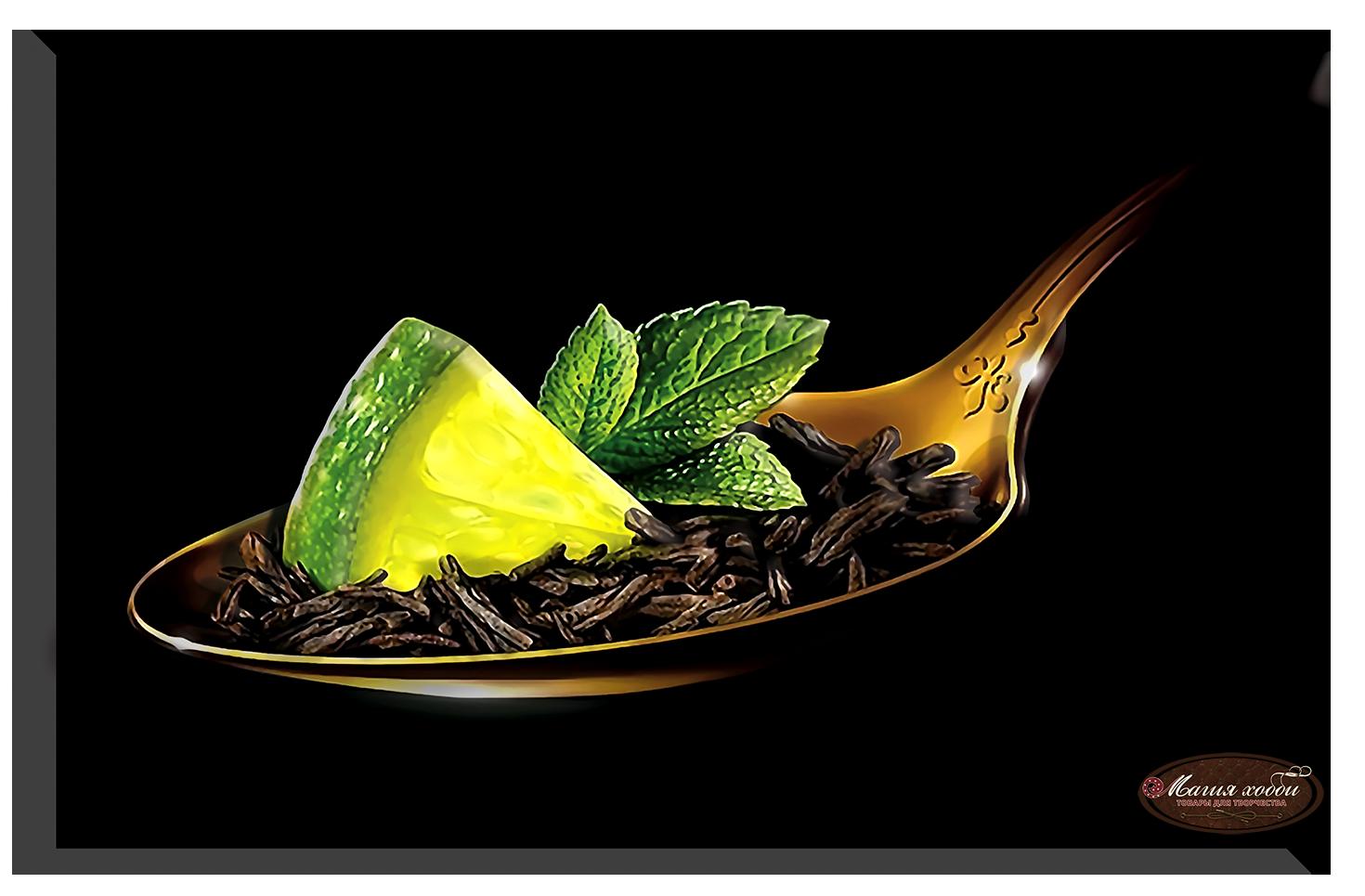 Чай с лимоном, Размер: 15*20