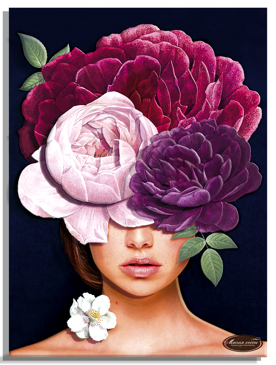 Девушки цветы. Загадка, Размер: 29*39