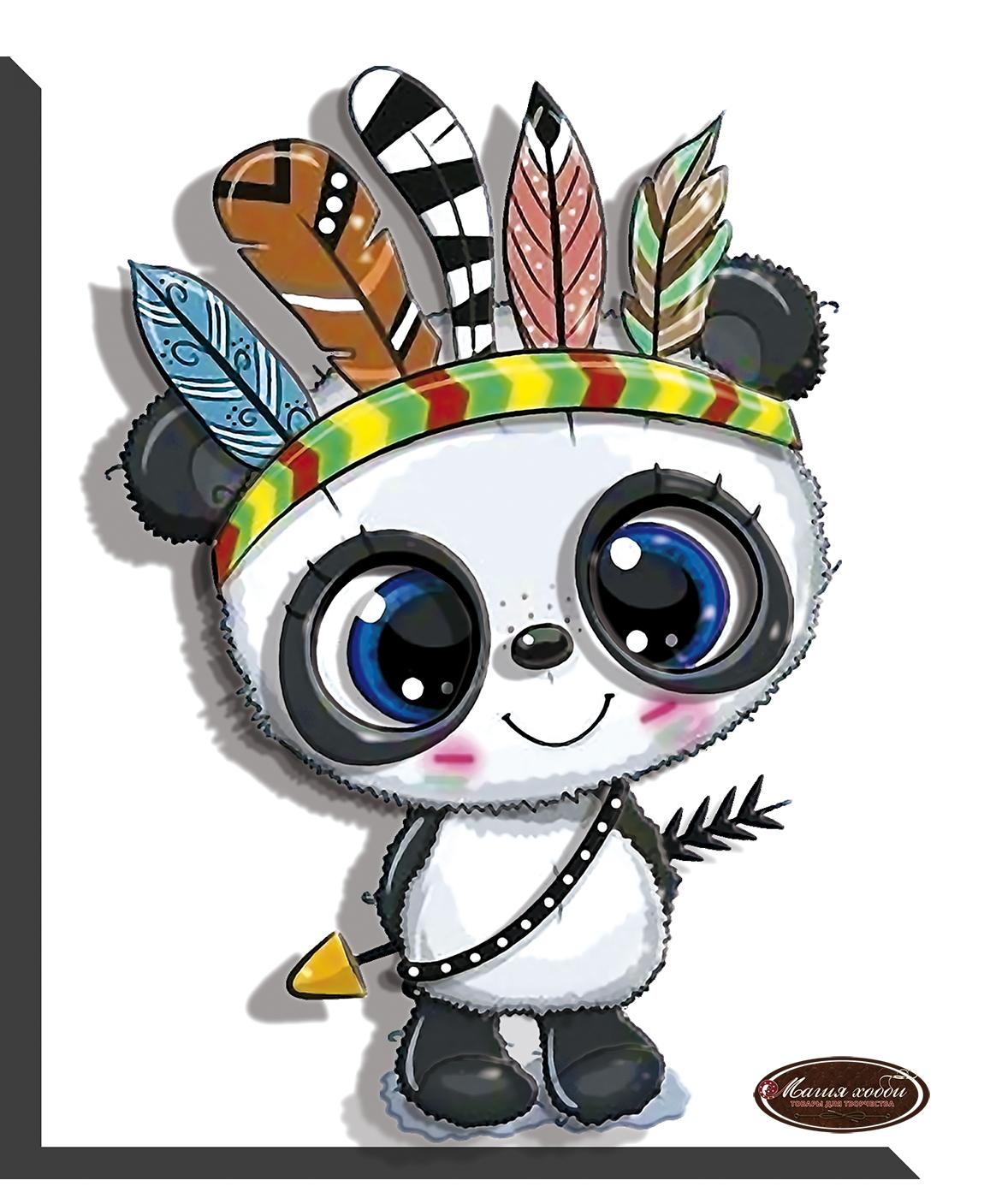 Панда  команчи, Размер: 11*13