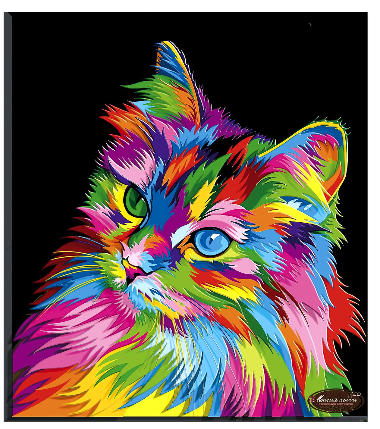 Радужный кот, Размер: 29*33