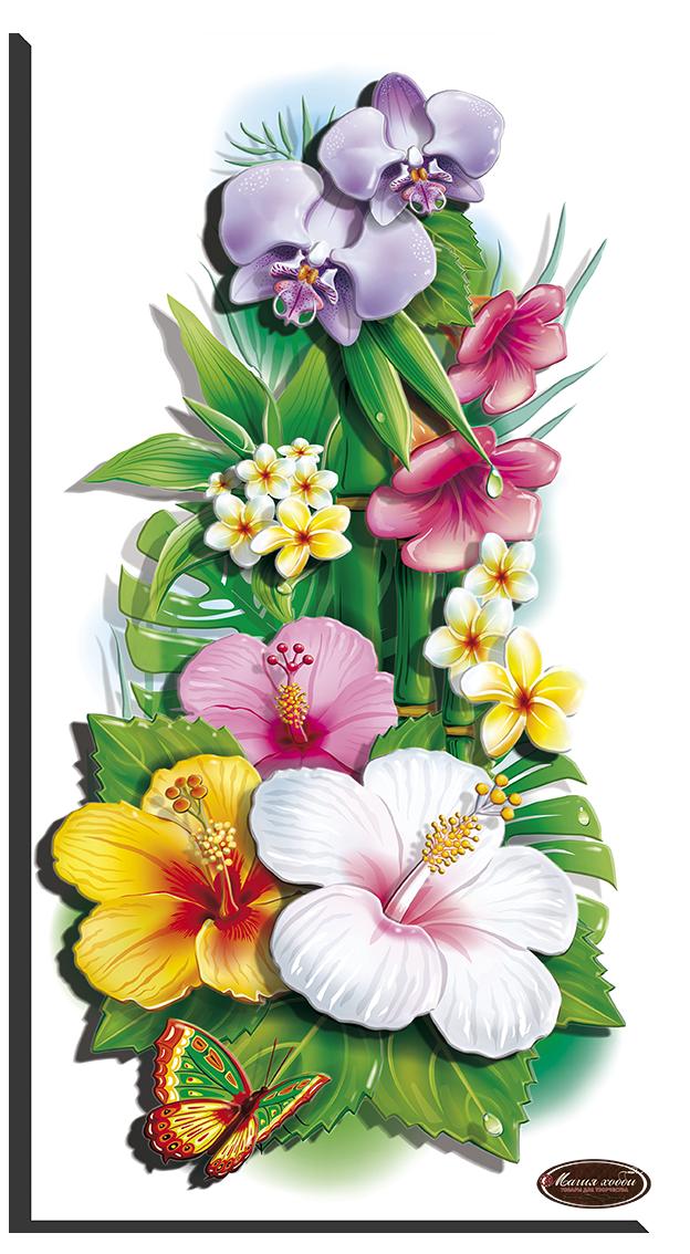 Тропические цветы -1, Размер: 20х38