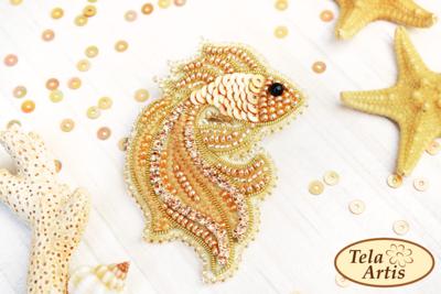 Золотая рыбка, 55х70мм