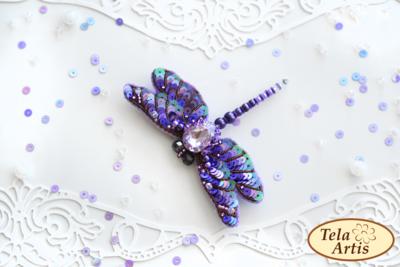 Фиолетовая стрекоза, 90х70мм