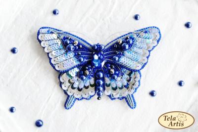 Синяя бабочка, 120х80мм