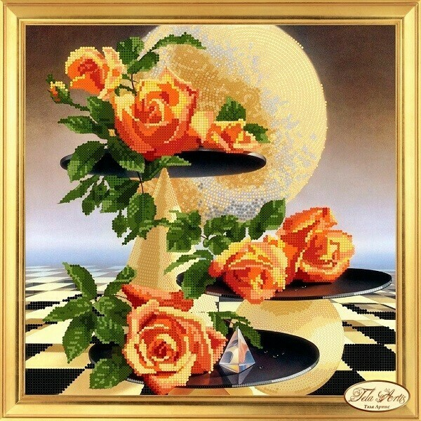 Лунные розы, 30х30см