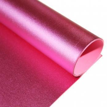 Фоамиран Металлик. толщина 2мм, 60x70см. Розовый