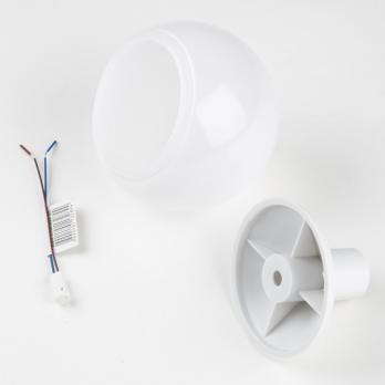 Комплект для изготовления декоративного светильника D=95мм. Белый