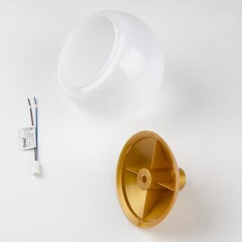Комплект для изготовления декоративного светильника D=120мм. Золото