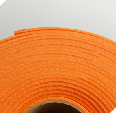 Изолон ППЭ 2 мм, ширина 75 см Цвет: Апельсин (О246)