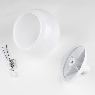 Комплект для изготовления декоративного светильника D=120мм. Белый