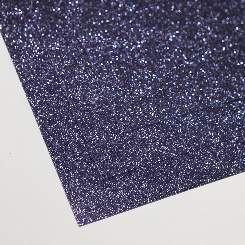 Фоамиран глиттерный, толщина 1.5мм, 60x70см. Спелая черника