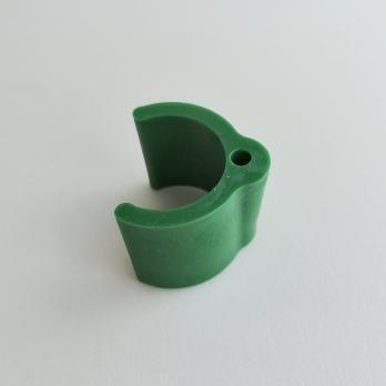 Крепление-держатель для листьев на трубу D20мм. Зеленый