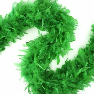 Chandelle Feather Boa - Kelly Green