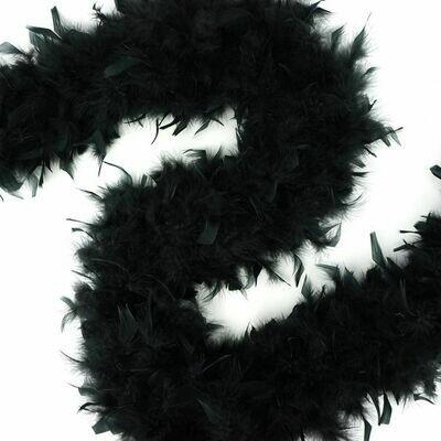 Chandelle Feather Boa - Black