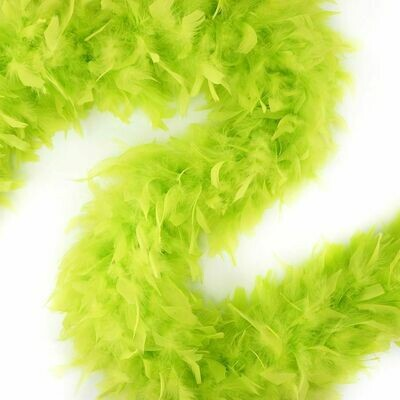 Chandelle Feather Boa - Lime