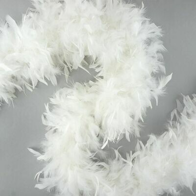 Chandelle Feather Boa - White