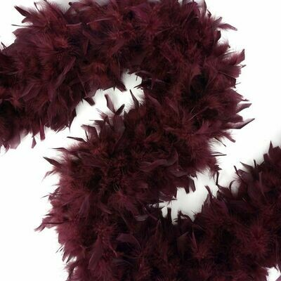 Chandelle Feather Boa - Burgundy