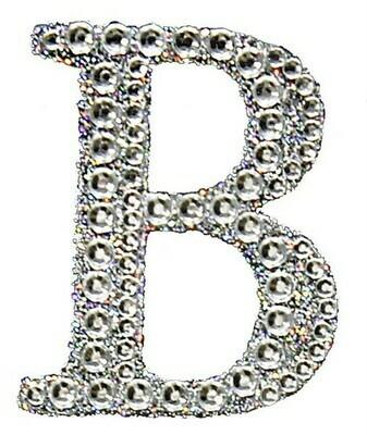 "2"" Rhinestone Letter ""B"" Sticker"
