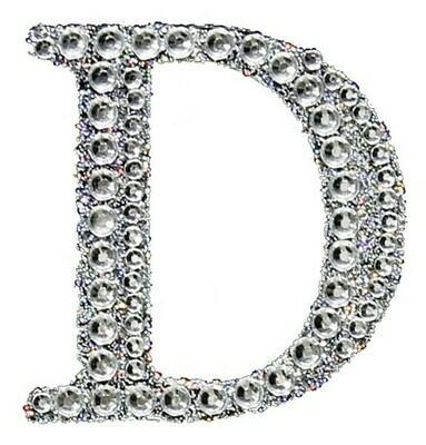 "2"" Rhinestone Letter ""D"" Sticker"