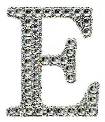 """2"""" Rhinestone Letter """"E"""" Sticker"""